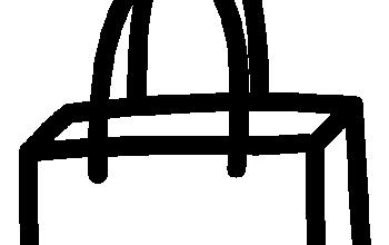 Noun doodle shopping bag 2035342