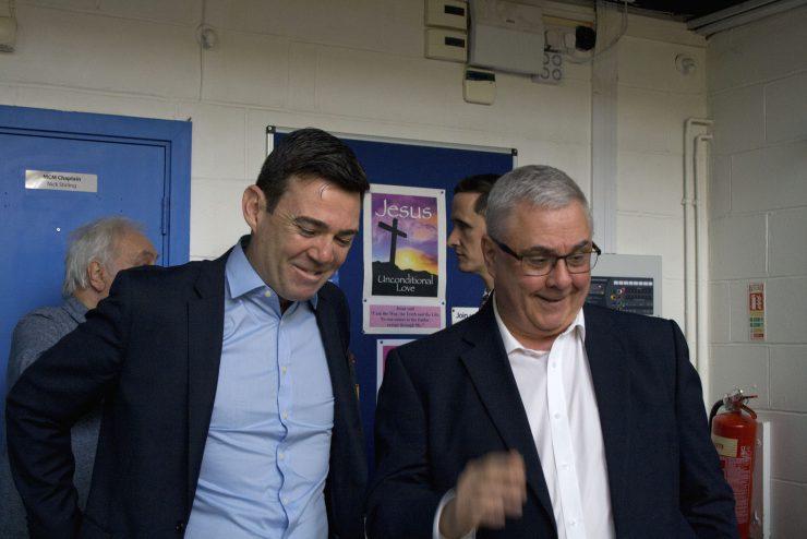 Terry wiht Andy Burnham
